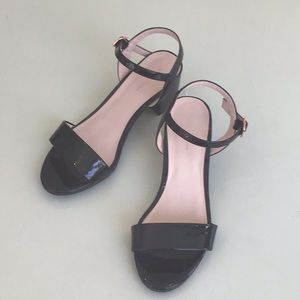 Ruby & Bloom Patent Leather Sandals